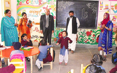 Visit of Director of Sindh Education 2014